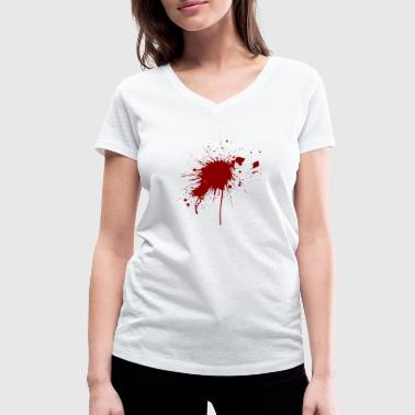 Blood spatter from a bullet wound - Women's Organic V-Neck T-Shirt by Stanley & Stella
