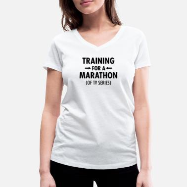 Tv Series Training For A Marathon (Of TV Series) - Women's Organic V-Neck T-Shirt
