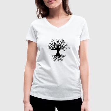 Tree and roots - Women's Organic V-Neck T-Shirt by Stanley & Stella