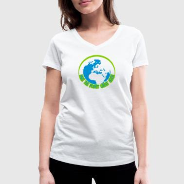 Make the planet great aga - Camiseta ecológica mujer con cuello de pico de Stanley & Stella