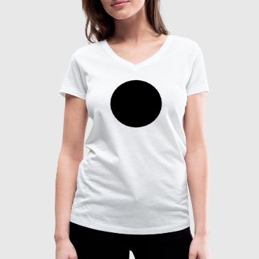 Mathematics-symbol - black circle - hole - Women's Organic V-Neck T-Shirt by Stanley & Stella