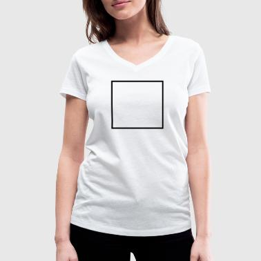 Math symbol - square - Women's Organic V-Neck T-Shirt by Stanley & Stella
