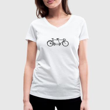 Tandem Tandem Bike - Women's Organic V-Neck T-Shirt by Stanley & Stella