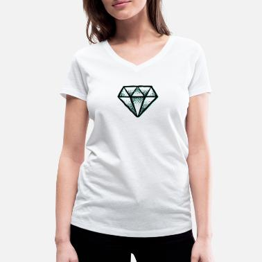 Diamond Supply cool Diamond Diamond Crystal Crystal - Women's Organic V-Neck T-Shirt
