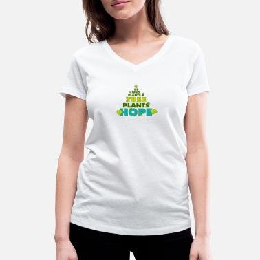 Arbor Day Day of the tree Arbor Day gardener trees plants - Women's Organic V-Neck T-Shirt by Stanley & Stella