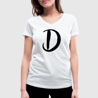 D - Women's Organic V-Neck T-Shirt by Stanley & Stella