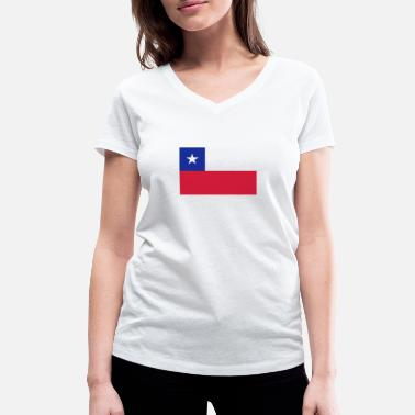 Ricky Martin National Flag Of Chile - Women's Organic V-Neck T-Shirt by Stanley & Stella