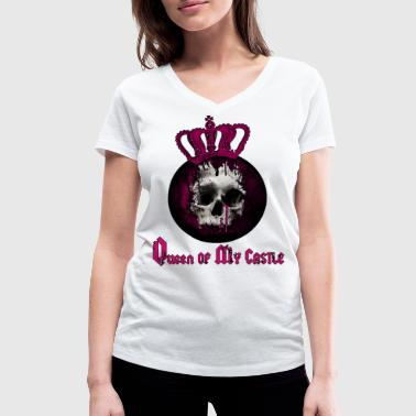 QUEEN OF MY CASTLE - Women's Organic V-Neck T-Shirt by Stanley & Stella