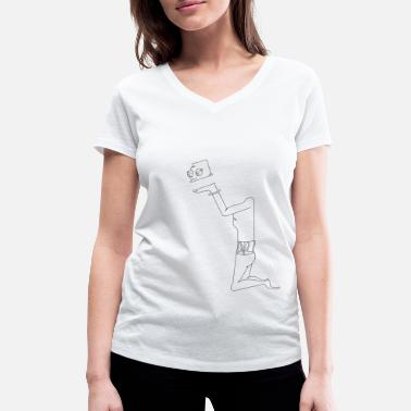 Serve Served on a tray - Women's Organic V-Neck T-Shirt by Stanley & Stella