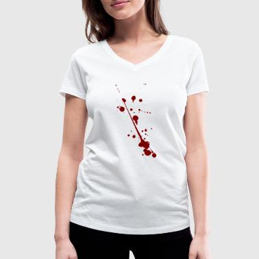 Blood splatter - Women's Organic V-Neck T-Shirt by Stanley & Stella