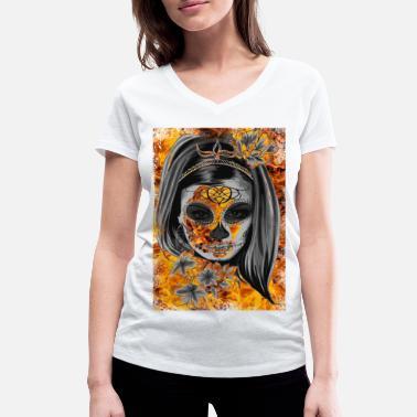 Mask Halloween Halloween mask - Ekologisk T-shirt med V-ringning dam från  Stanley 15c765d5cbdaf