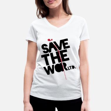 Save The World Save The World - Frauen Bio-T-Shirt mit V-Ausschnitt von Stanley & Stella