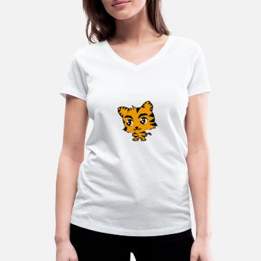 Cute Tiger Cute tiger - Women's Organic V-Neck T-Shirt by Stanley & Stella