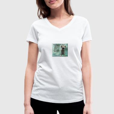 Good Evening for a nice evening - Women's Organic V-Neck T-Shirt by Stanley & Stella