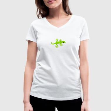 Gecko cute - Women's Organic V-Neck T-Shirt by Stanley & Stella