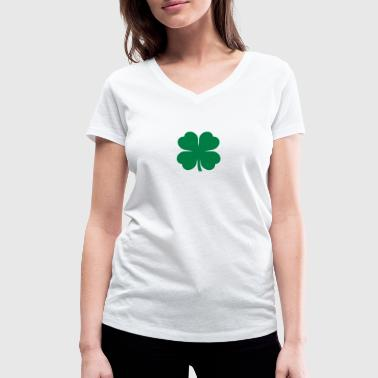 Four leaf clover - Women's Organic V-Neck T-Shirt by Stanley & Stella