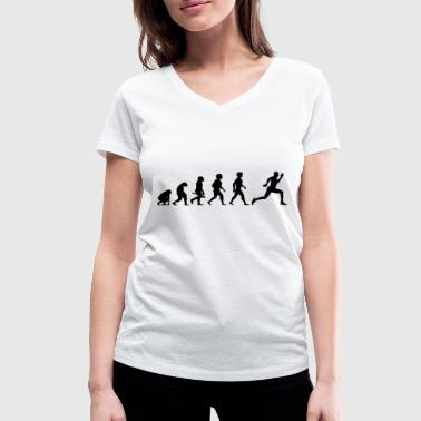 Evolution Running Evolution Sprinter Jogging Running Workout - T-shirt bio col V Stanley & Stella Femme