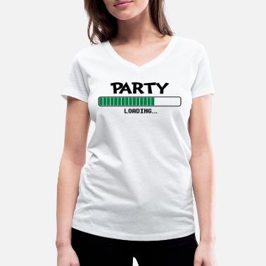 Party Loading Party loading loading bar - Women's Organic V-Neck T-Shirt by Stanley & Stella