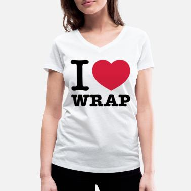 Connoisseur I love wrap - Women's Organic V-Neck T-Shirt by Stanley & Stella