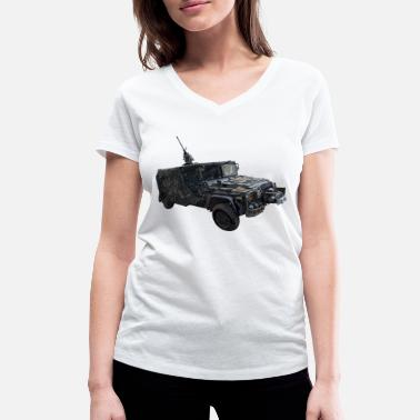Liberal Elite KSK Serval Vehicle T-Shirt Command Special Forces - Women's Organic V-Neck T-Shirt by Stanley & Stella