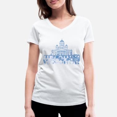 Cathedral Helsinki Cathedral - Women's Organic V-Neck T-Shirt by Stanley & Stella