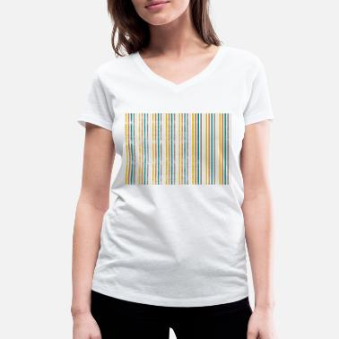 Strip strip - Women's Organic V-Neck T-Shirt by Stanley & Stella