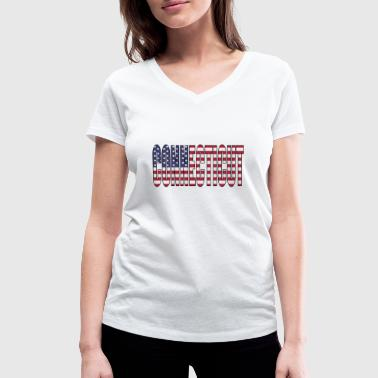 Connecticut Connecticut USA - Women's Organic V-Neck T-Shirt by Stanley & Stella
