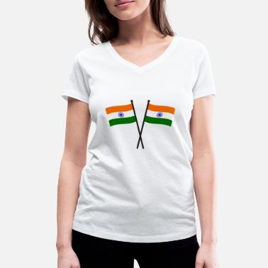 India india flag - Women's Organic V-Neck T-Shirt