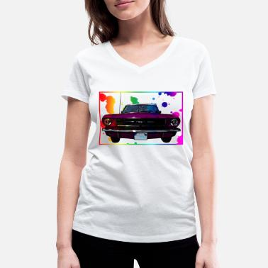 Sportauto Colorfull pimp car - Women's Organic V-Neck T-Shirt by Stanley & Stella