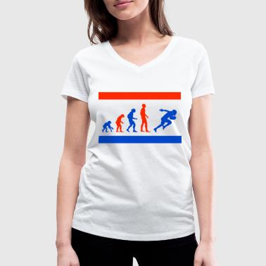 Evolution Football Superbowl - T-shirt ecologica da donna con scollo a V di Stanley & Stella