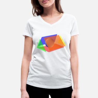 prisma ja pallo - Naisten v-aukkoinen t-paita b0def765ab