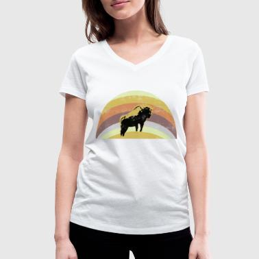 buffalo, bison, bull - Women's Organic V-Neck T-Shirt by Stanley & Stella