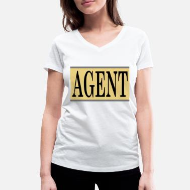 Agent 007 agent - Women's Organic V-Neck T-Shirt by Stanley & Stella