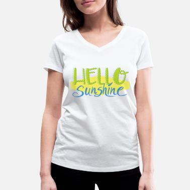 Sunny Sex Hello Sunshine - Women's Organic V-Neck T-Shirt by Stanley & Stella