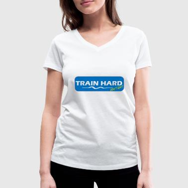 Motivation Train Hard feel good - Frauen Bio-T-Shirt mit V-Ausschnitt von Stanley & Stella