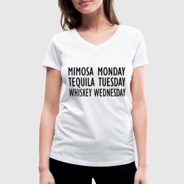 drunk - Women's Organic V-Neck T-Shirt by Stanley & Stella