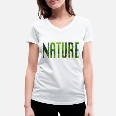 Part Of Speech Nature - part of speech design - Women's Organic V-Neck T-Shirt by Stanley & Stella