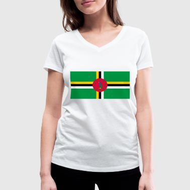 Dominica flag - Women's Organic V-Neck T-Shirt by Stanley & Stella