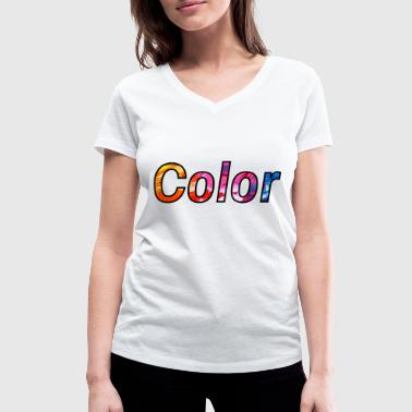 Colouring colour - Women's Organic V-Neck T-Shirt by Stanley & Stella