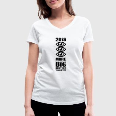 MORE BIG BROTHER THAN EVER - Women's Organic V-Neck T-Shirt by Stanley & Stella