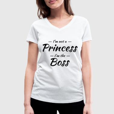 Im Not A Princess I'm not a princess, I'm the boss - Frauen Bio-T-Shirt mit V-Ausschnitt von Stanley & Stella