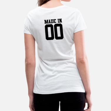 Made In 2000 MADE IN 00 - 2000 - Birthday - Women's Organic V-Neck T-Shirt by Stanley & Stella