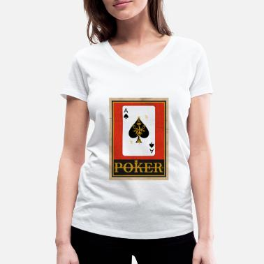 Wear Poker - Women's Organic V-Neck T-Shirt