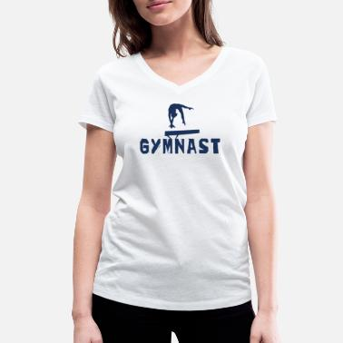 gymnast - Women's Organic V-Neck T-Shirt