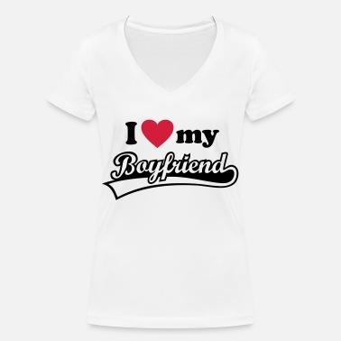 c0b79f73f I love my Boyfriend - Yo amo a mi novio. hombre Camiseta premium ...
