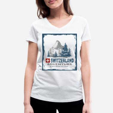 Switzerland Switzerland Switzerland - Women's Organic V-Neck T-Shirt