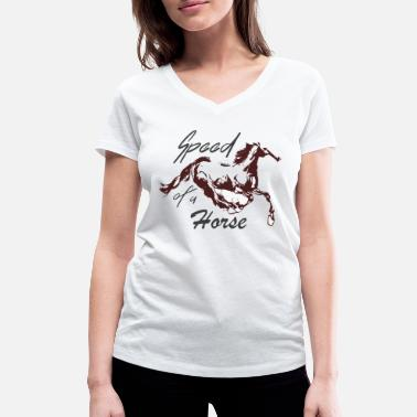 Sauvage Cheval courant - T-shirt bio col V Femme