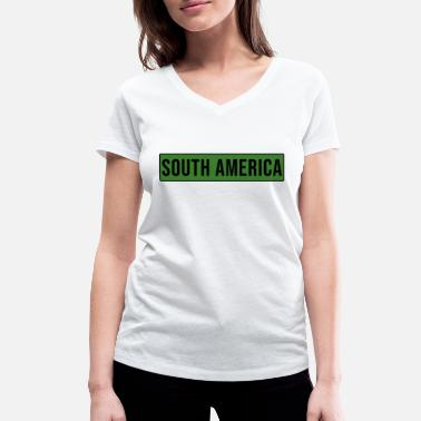 South South America - South America - Women's Organic V-Neck T-Shirt