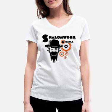 Orange Shalom voor Clockwork Orange - Vrouwen V-hals bio T-shirt