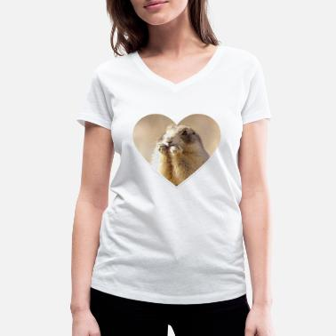 Rodent rodent rodents heart cute - Women's Organic V-Neck T-Shirt